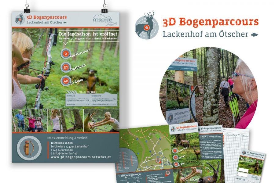 Corporate Design : 3D Bogenparcours