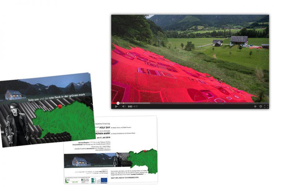 Der rote Fleck : Einladung, Fotografie, Videodokumentation