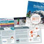 Schnee Brettl Wochen - Werbebroschüre für Lehrer