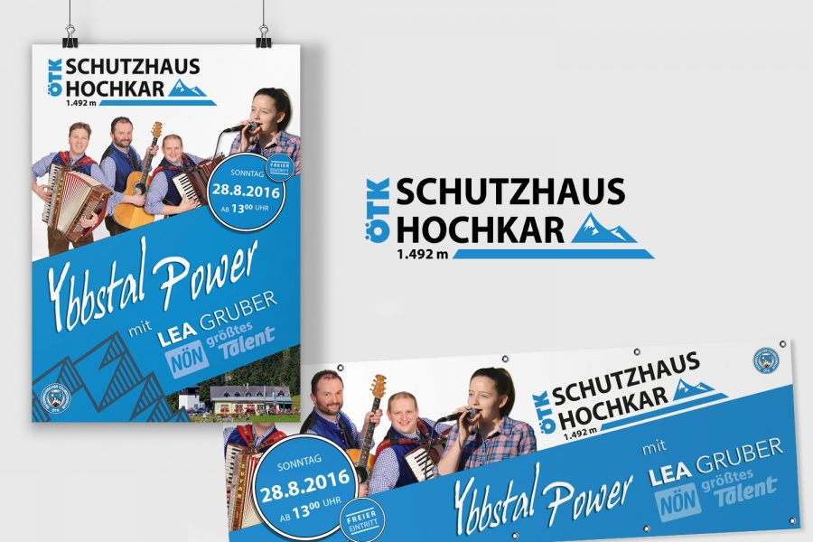 Schutzhaus Hochkar – Plakat & Banner