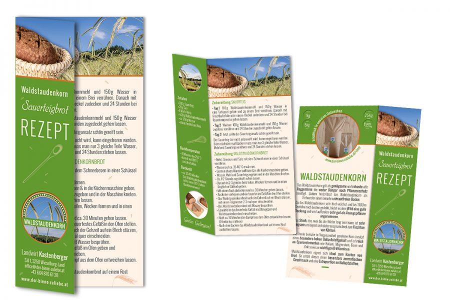 Waldstaudekorn-Brot Rezept – Folder