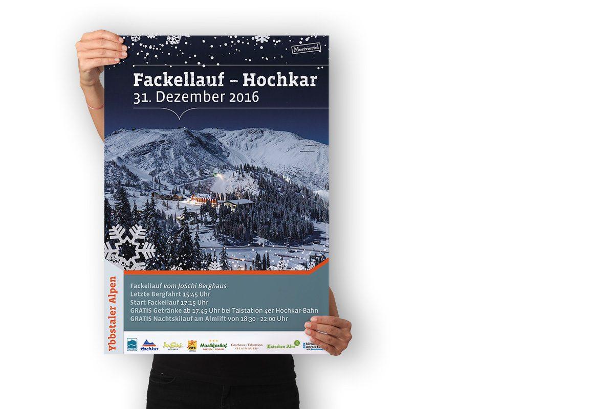 Plakat - Fackellauf Hochkar 2016