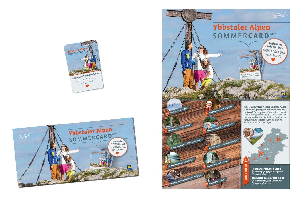 Werbegrafik: Ybbstaler Alpen Sommercard