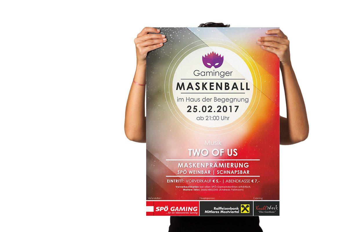 Plakat Maskenball Gaming