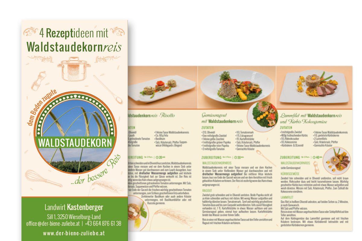 Waldstaudenkorn Rezeptideen - Folder