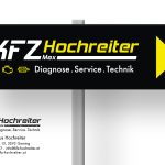KFZ Hochreiter - Logodesign, Firmenschild, Firmenstempel