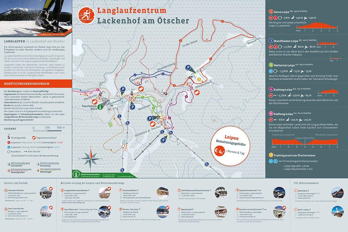 Infotafel Langlaufzentrum Lackenhof am Ötscher