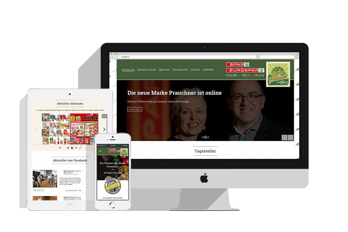Neue Homepage der Marke Prauchner